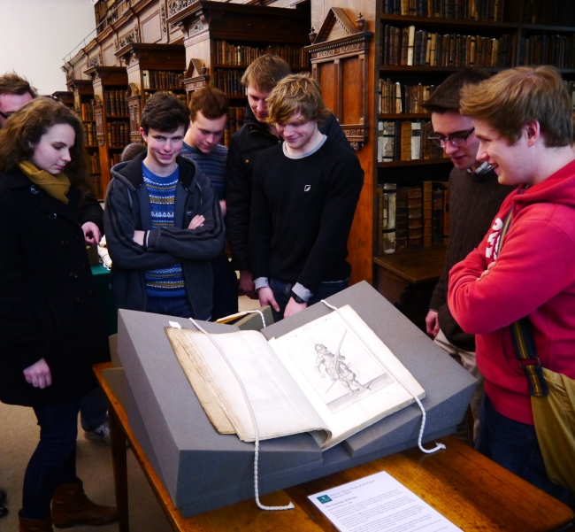 Students in the Fellows' Library