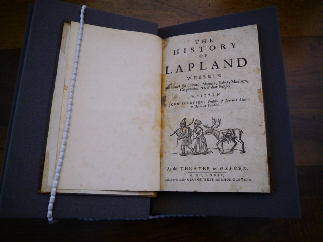 Scheffer's History of Lapland's title-page