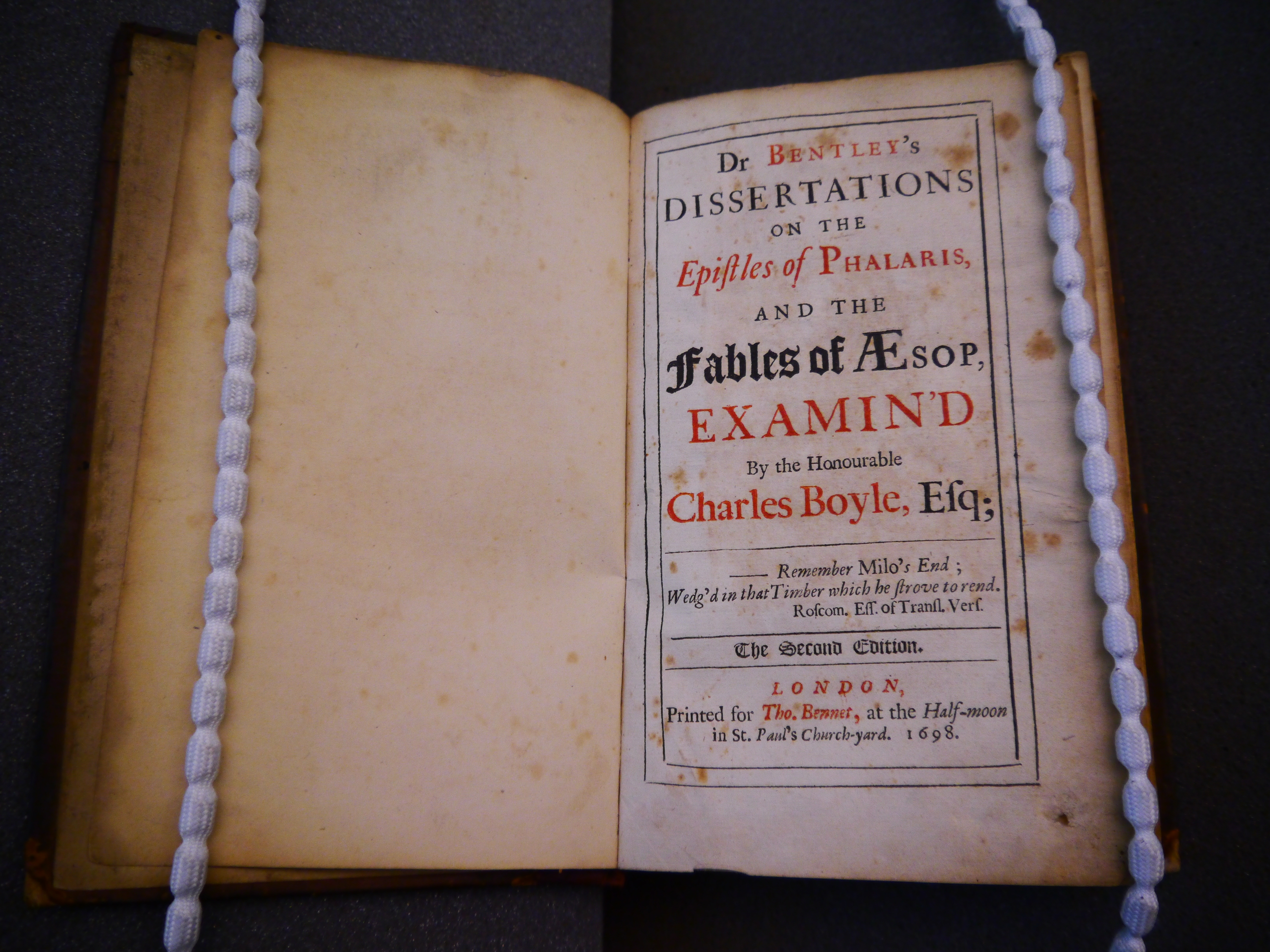 a dissertation upon the epistles of phalaris Boyle (henceforth 'orrery') succeeded as 4th earl on the death of his brother in  1703 between  phd dissertation  university of  dr bentley's dissertations  on the epistles of phalaris, and the fables of æsop, examin'd, to the master of.