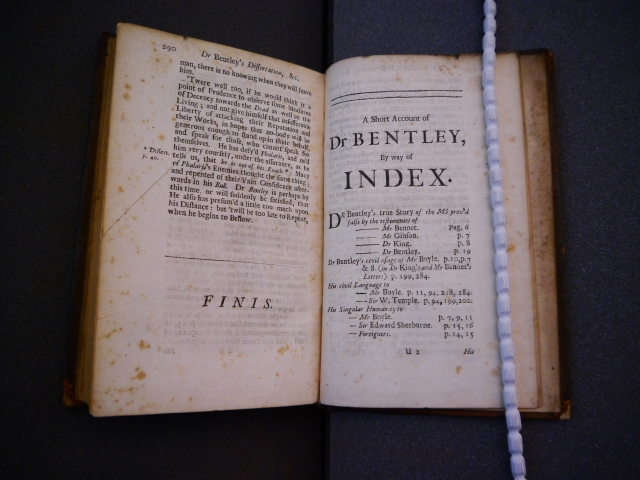 Boyle's satirical index: Fellows' Library K.11.16 (© Jesus College, Oxford)