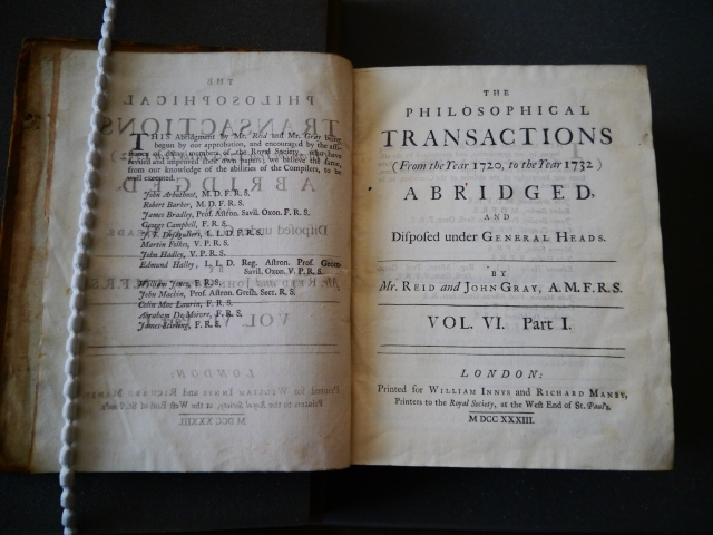 Philosophical Transactions (1720-1732)