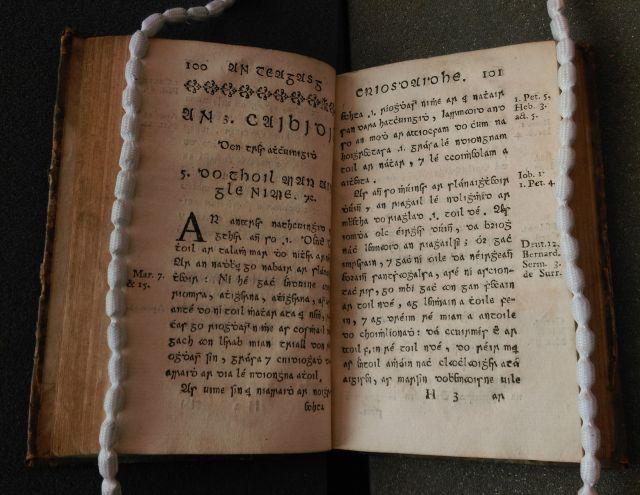 Irish type in An Teagasg Criosdaidhe: Fellows' Library II Arch.2.31 (© Jesus College, Oxford)