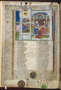 Margaret of Anjou in the Shrewsbury Talbot Book (British Library)