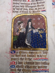 Margaret of Anjou in the Skinners' Company Book (Guildhall Library)